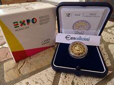 ITALIA 2015 2 EURO EXPO MILANO FS PROOF BE PP ITALY ITALIEN