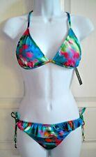Guess Avant Garden Jeweled Racerback Side Tie Bikini Swim Swimsuit Size M NWT