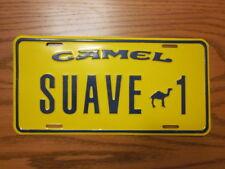 Camel Suave 1 VINTAGE NOS Stamped Metal License Plate, EXCELLENT