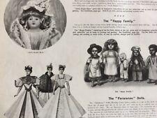 1896 Antique Toy Premium Ad Page x2 Santa Kaleidoscope Parisienne Dolls Games ++