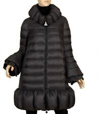 "NEW MONCLER ""PACHELLE"" GUNMETAL GOOSE DOWN STYLISH ZIPPER WINTER COAT 2/US6/8"