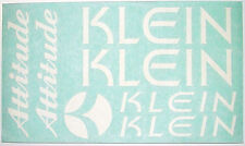 KLEIN Attitude Decals ~ Klein Frame Decals ~ Klein Fork Decals ~ White Decal Set