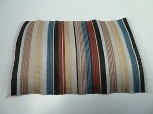 Dolls House Lounge Bedroom Flooring Miniature 1:12th Scale Modern Striped Rug