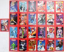 I CAVALIERI DELLO ZODIACO - serie delle 25 carte PERSONAGGI normali - rosse