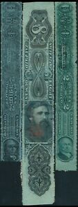 U.S.A., CLASSIC UNCHECKED LOT OF 3 DIFF. USED TOBACCO REVENUES TAX.  #K302