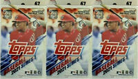 2021 Topps Series One Baseball 67ct Hanger Box Lot of 3 Boxes Factory Sealed!