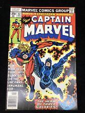 Captain Marvel #53, (1977, Marvel) Black Bolt! 8.5 VF+