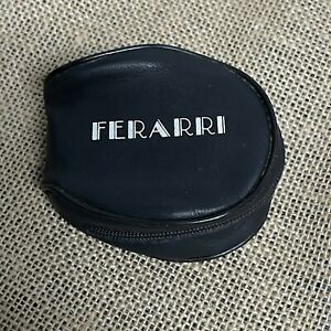 Vintage Ferarri 1980's Fold Up Style Black Sunglass Zip Up Zipper Case Only