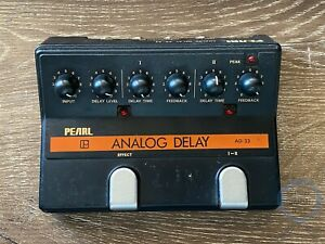 Pearl AD-33, Analog Delay, 2 CH, Made In Japan, 1980s, Vintage Guitar Effect