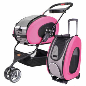Ibiyaya 5-in-1 Multifunction Combo EVA Pet Carrier/Stroller - Pink