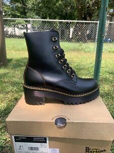 Dr. Martens Leona Women's Boots - Black Vintage Smooth, US 8