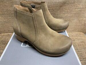 NIB Dansko 9425-161600 Women's Barbara Burnished Nubuck Taupe Ankle Boot