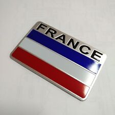 France Flag Emblem Badge Decal Car Front Side Bumper Sticker Aluminum alloy