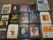 8 Track Tapes: 14 tapes plus a 8-Track to Cassette Adapter