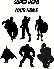 Superhéroe, Superman, Batman, Hulk, Spiderman, Iron Man, Capitán, Pared Adhesivo 1