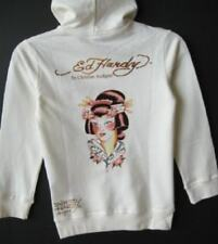 Ed Hardy Girls Vintage Tattoo Offwhite Forever Bird/Geisha Hoodie (S) NWT