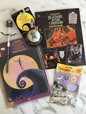 Nightmare Before Christmas 1993 Lot-Pencil Poster Book Yo-Yo Mouse Pad Stickers