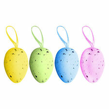 Pack of 18 Multicolour Spotted Hanging Easter Eggs - Easter Bonnet Decoration