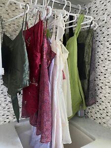 Victoria's Secret Silk Beaded Babydoll Lingerie, Pants Lot of 12 pcs Size M & L