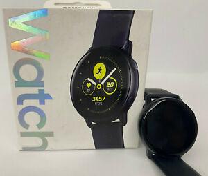 Samsung Galaxy Watch Active SM-R500 Schwarz Smartwatch Fitnesstracker Wie Neu