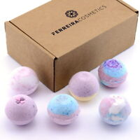 Bath Bomb Gift Set Natural Ingredients By Ferreira Cosmetics - Luxury Bath Sets