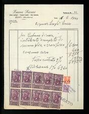 LETTERE COMMERCIALI EMMA SAVANI TRASPORTI FUNEBRI CARPI 1944