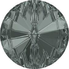 1 BOTTONE GIOIELLO SWAROVSKI ORIGINALI ART. 3015 mm10 BLACK DIAMONDI