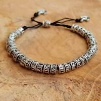Tibet Armband versilbert Gebetsarmband sechs Mantren Glücksarmband