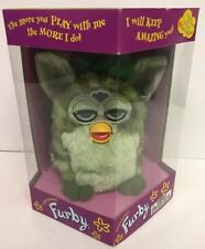 1999 Furby Electronic Pet light green & dark green Hasbro Very Rare Boxed Sealed