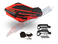 PowerMadd SENTINEL Handguard Hand Guards Mirror KIT Red Black Polaris ATV 34402