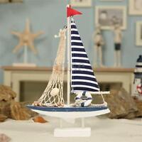 New Marine Net Nautical Decor Wooden Blue Sailing Boat Ship Party Home Decor S