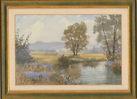 Megan Hodgkinson - 20th Century Watercolour, Landscape View with Water Stream
