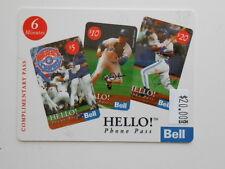 Blue Jays baseball rare World Series collectible phonecard 1990s