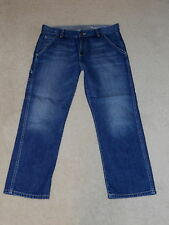 AG ADRIANO GOLDSCHMIED SUPPLY CARPENTER CROPPED CAPRIS COTTON JEANS SIZE 28