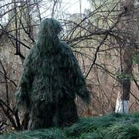 Gillie Ghillie Suit Woodland Camouflage Camo Warp Pants Jacket Hood Gun Bag