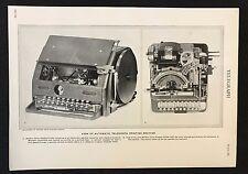 Vintage Print/Plate 1929 Encyclopedia Britannica, TELEGRAPH PRINTING MACHINE