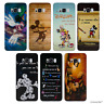 Disney Quote Silicone Gel Case/Cover for Samsung Galaxy S6 / Screen Protector