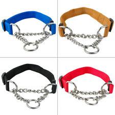 Martingale Dog Collar Medium Large Pet Choke Collars Training Adjustable Chain