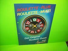 Playmont ROULETTE PLUS Original Slot Machine Promo Sales Flyer German Text Rare
