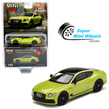 Mini Gt 1:64 Bentley Continental Gt Limited Edition by Mulliner (Green) #163