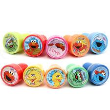 Sesame Street Elmo Self Ink Stamps 10pc Set Cookie Monster Oscar Big Birds