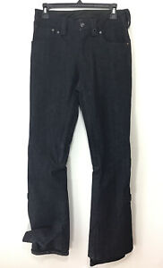 BURTON The White Collection DRYRIDE Women's Size S 30 Snowboard Ski Denim Pants