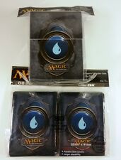 80 Ultra Pro Sleeves + deckbox Set-Mana 3 Blue MTG CARTE MAGIC CUSTODIE Deck