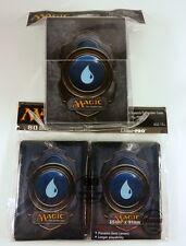 80 ultra pro sleeves + deckbox set-mana 3 Blue mtg magic tarjetas fundas Deck