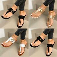 ❤️ Summer Women's Flip Flop Slipper Thong Sandals Buckle Casual Flat Shoes Size