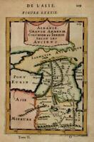 Ancient Caucasus Armenia Sarmatia 1683 Mallet miniature map w/ fine hand color