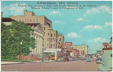 Looking East on Central Avenue in Albuquerque NM Postcard