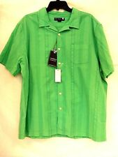 Cremieux XL Extra Large Green Garment Dyed Button-Front New Mens Shirt