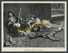 Raffaelo Armenise Orient Harem Frauen Sklavin Erotik Busen Schönheit Musik 1893