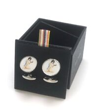 """New! $150 Paul Smith """"Naked Lady on the Phone"""" Classic Cufflinks"""